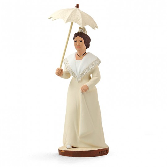 Arlésienne à l'ombrelle 'blanche'