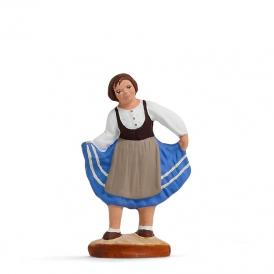 Petite fille qui danse 'bleue'