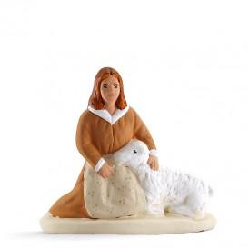 Bergère au mouton