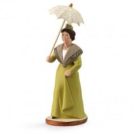 Arlésienne à l'ombrelle 'verte'