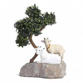 Chèvres sur un rocher