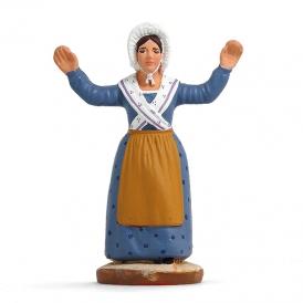 Danseuse provençale bras levés 'bleue'