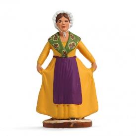 Danseuse provençale révérence jaune